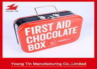 Rectangle First Aid Chocolate Tin Boxes , Full Color CMYK Printing Tins Of Chocolates
