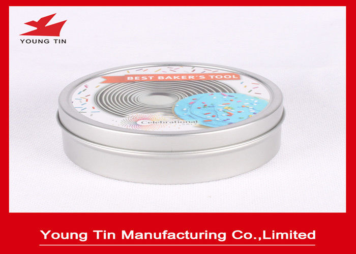 YT1192 Candy Gift Tins With Custom Printing Lids , Tinplated Round Sweets Tin Can
