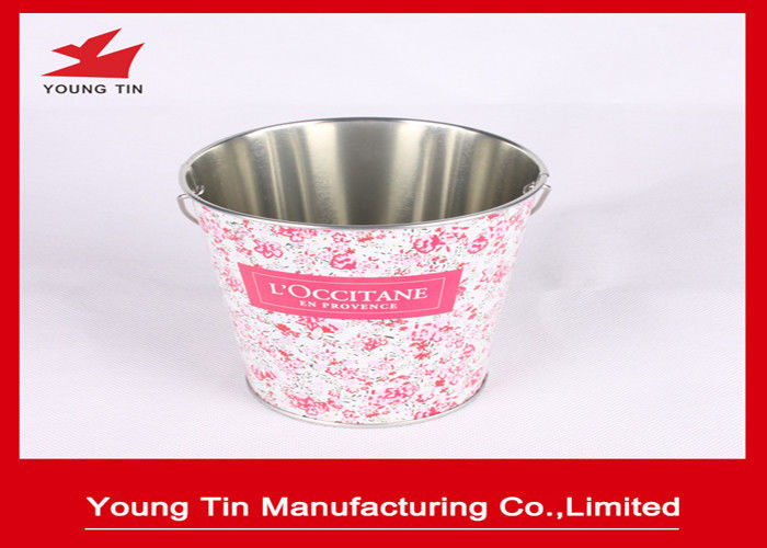 0.23 MM Tinplate Material Metal Tin Bucket For Candy Gifts Packaging Promotion Purpose