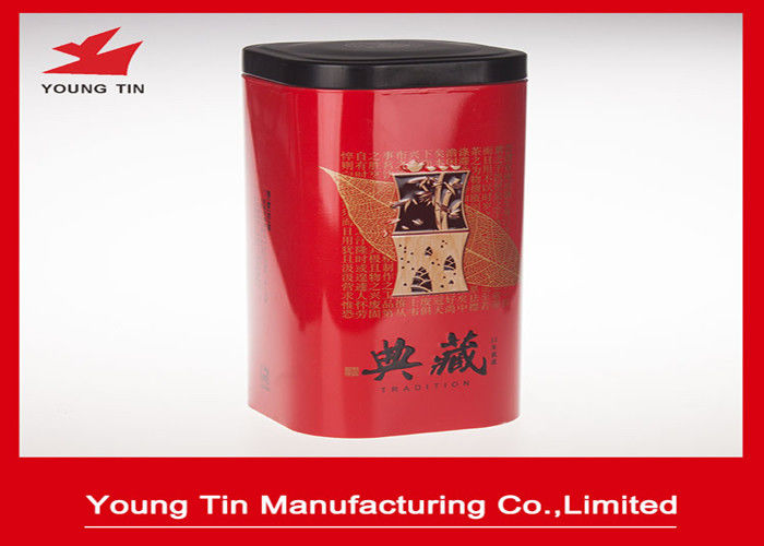 LFGB Certification Metal Tea Tins For Chinese Traditional Tea Storage Packaging