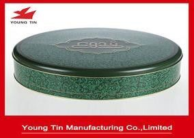 Duże 0,28 MM Food Grade Tinplate Round Cookie Packaging Container Tins With Lid