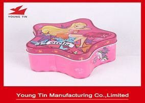 Christmas Star Shaped Candy Gift Tins, Personalized Packaging Tin container Box
